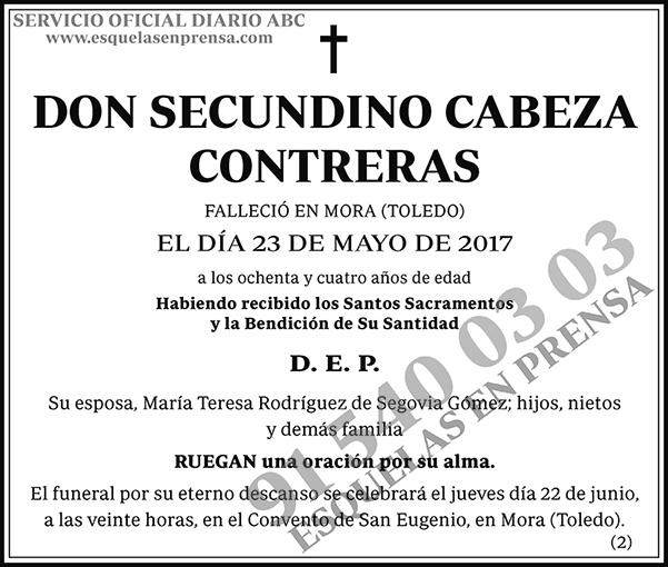 Secundino Cabeza Contreras